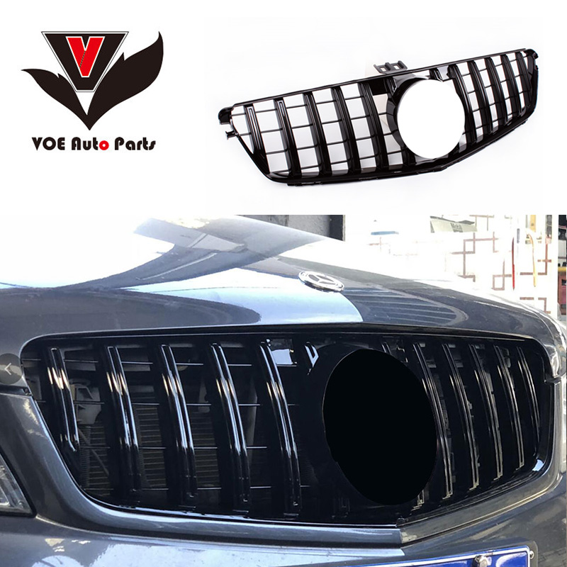 AMG Style Gloss Black Grill Grille For Mercedes Benz W204 C300 C350 2008-2014
