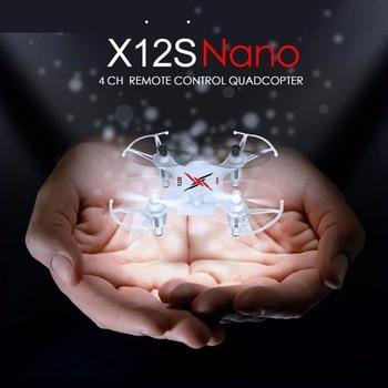 SYMA Mini Drone 4CH 6-Axis Gyro X12S Télécommande Hélicoptère Quadrocopter Poche-taille Dron Intérieur Toys, Blanc, rouge, Noir, Vert