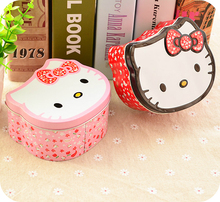 Kitty Cat Cartoon Iron Tin Boxes Case.Storage Box Organizer For Jewelry Kids Candy Gift Home Supplies.Container.Home Decor.(China)