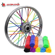 Alconstar- Motocross Dirt Bike Enduro Wheel RIM SPOKE Shrouds SKINS COVERS WR250 for KTM KX85 EXC450 for KAWASAKI KX CRF RMZ KXF(China)