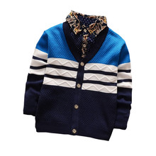 BibiCola Spring Autumn Boys Christmas Sweater Cardigan Knitted Children Sweaters Clothes Jumpers Top Boy Leisure Knit Outwear