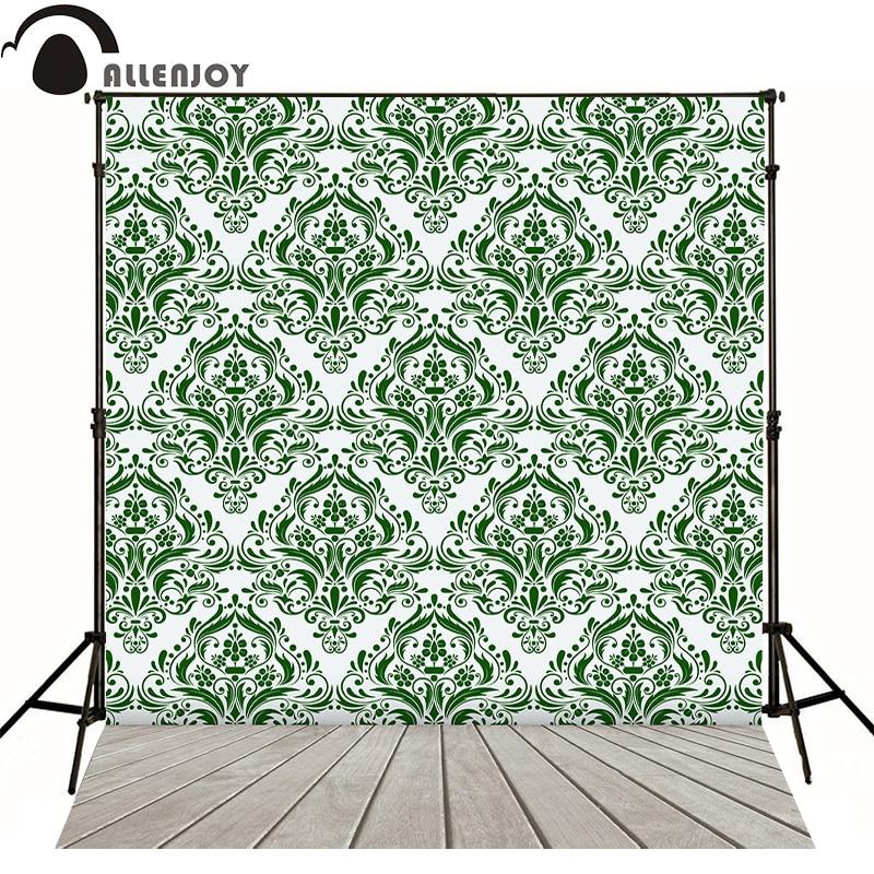 Allenjoy photography backdrops pattern vintage frame green elegant custom size background for photo studio send rolled classical<br><br>Aliexpress