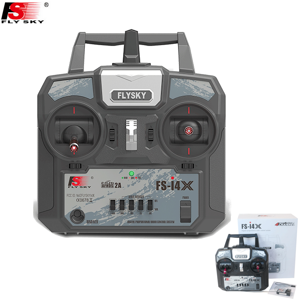 Original Flysky FS-i4X 2.4G 4ch RC Transmitter Controller with FS-A6 Receiver For RC Helicopter Plane Quadcop Mode 1 Mode 2<br>