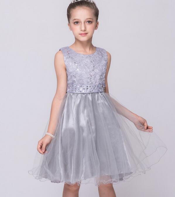 2-9 Years Old Flower Girl Dress kids dress baby girls clothes 2017 kids girls party princess dresses Girls Summer Evening Dress<br><br>Aliexpress