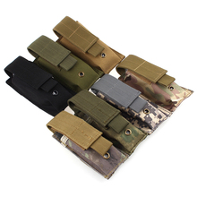 Outdoor Hiking Camping Molle Tactical  PALS Dump Radio Pouch Flashlight Bag Small Mini Belt Pack Interphone Case Hunting Bags