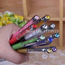 1pcs/lot New fashion design of the pen and written on the diamond crystal ball pen in the fashion and hot sales free shipping(China)