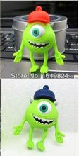 100% real capacity USB 2.0 Fashion cute Green cartoon Big eye animals 4GB/8GB/16GB Flash Drive Shaped Memory Stick no chain(China)