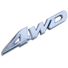 Car Tail Sticker 3D Metal 4WD Displacement Emblem Badge Wheel Drive Decal for Ford Toyota Honda Car Styling