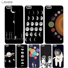 Lavaza Space Love Moon Astronaut Hard Transparent Cover Case for Huawei P10 P9 Lite Plus P8 Lite P7 6 G7 & Honor 8 Lite 4C 4X 7(China)