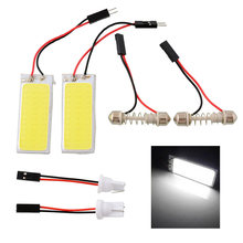 2pcs HID Bright 36 COB LED Panel Light Practical Efficient For Car Interior Door Trunk Reading White Lamp
