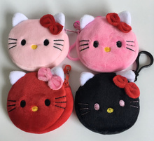 Kawaii 4Colors For Choice - NEW Hello Kitty Plush Coin bag Purse , kid Girl's Mini Coin Wallet Pouch BAG