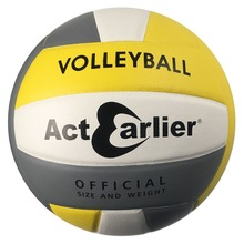 Official Size 5 ActEarlier Volleyball Soft PU Leather Volleyball Indoor&Outdoor Training Ball Beach Volleyball(China)