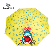 2017New Girl Boy cute kid umbrellas Child 3 Fold Rain Umbrella Shark Lark Cartoon Men Women parasol Gift chuva paraguas ombrello