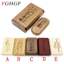 SHANDIAN PAY (OVER 10 PCS free LOGO) wooden usb + box usb flash drive pendrive 4gb 8gb 16gb 32gb memory stick photography gifts(China)