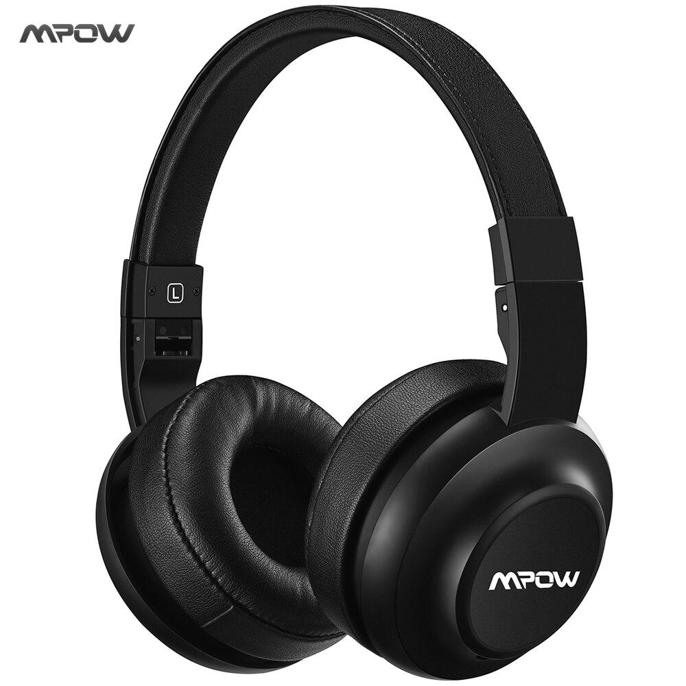 Original MPOW M2 Bluetooth Headphone Wireless Headset Earphone 4 EQ Sound Modes w/ Memory Protein Earmuffs, AUX for Cellphone PC<br>