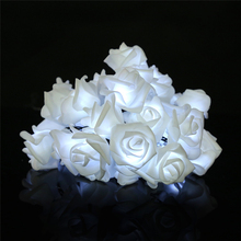 30 PCS Rose LED Window Curtain Lights String Lamp House Party Decor Striking Christmas Lamp Home Garden Decor Lights Drop Ship(China)