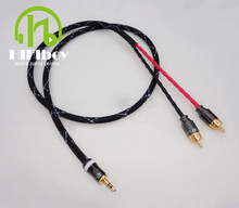 Free shipping Hifi cable audio rca cable JAPAN Canare Audio signal wire  PEAVEY plug 3.5mm aux plug convert two RCA plug