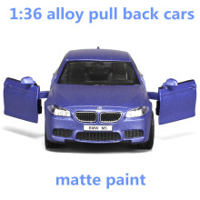 1:36 alloy pull back cars,high simulation M5 model,2 open door,matte paint,metal casting,toy vehicles,