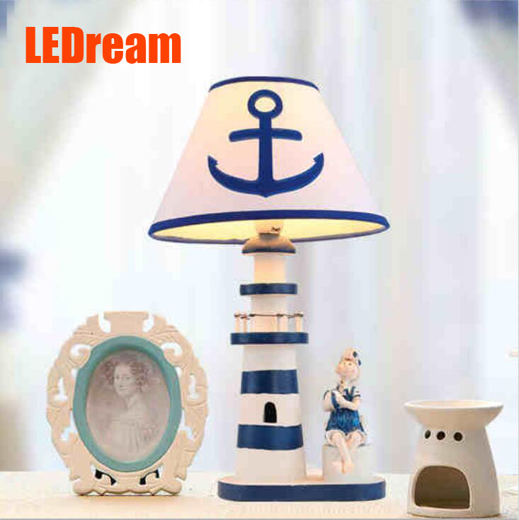 The lighthouse the children room that the Mediterranean is adjustable light shape Creative study adornment  lanterns a bed boy<br><br>Aliexpress