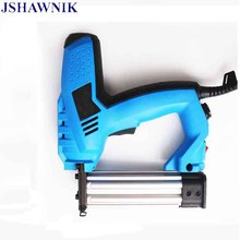 200V-240V Electric Staple Gun 2 In 1 Brad Nailer & Stapler Electric Nail Power Tool with 500 pcs nails for wood furniture(China)