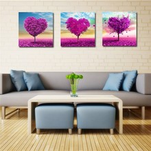 & 3 designs love heart flower tree 5D Diamond Painting Embroidery Cross Stitch DIY Diamond Mosaic crystal needlework picture(China)