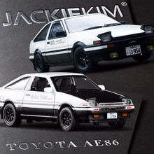 Free Shipping Diecast 1:28 Scale Initial D Fujiwara Takumi AE 86 Car Model Collection Alloy Model Car Toys For Baby Gifts(China)