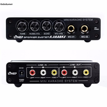 Karaoke Machine System A933 Sound Mixer Amplifier 12V W/ RCA In and Out Cable For PC Cellphone TV DJ Mini(China)