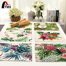 42*32cm Leaves Printed Table Napkins for Wedding Party Table Cloth Dinner Napkin Decor Home Textile guardanapos de tecido