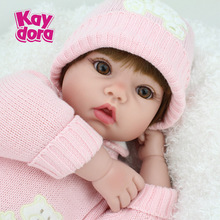 20 inch 50cm Silicone Reborn Baby Dolls Alive Lifelike Brown Wig Real Dolls Realistic Bebe Reborn Babies Girl Toys Birthday Gift