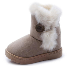 Children Boots Girl Winter Warm Snow Boots Boys Bootas Fashion Buckle Hairy Medium Small Children Shoes Australia Girls Bootas