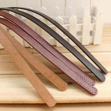 PD-04 Thicken simple vertical bar imitation leather Handle PU Bag belt DIY Lady handbag accessories 3pair/lot(China)