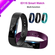 ADORARE Original ID115 Sports Smart Watch Fitness Tracker Step Counter Activity Monitor Bracelet Vibration For IOS Android Woman(China)