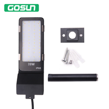 New Bright LED Flood Light 20W IP65 Waterproof Spotlight Lamp wall Garden Street Outdoor Lighting Floodlight With Pole and Screw(China)
