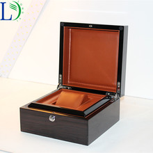 Brand Luxury Solid Wood Box Black 2 in 1 Watch Storage Cases Jewelry Display Box Perfect Recollection for Wristwatch Gift Box(China)