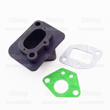 Inlet Intake Manifold + Gaskets for 33cc 43cc 49cc GoPed Moped Scooter Cat Eye Mini Moto Dirt Pocket Bike Go Kart Minimoto(China)