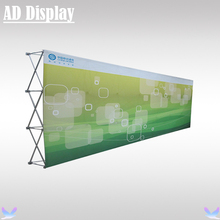 20ft High Quality Straight Tension Fabric Pop Up Display Trade Show Backdrop With Single Side Banner Printing(No End Cap)