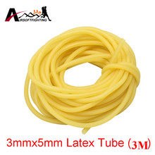 Hunting Shooting 3M Natural Latex Slingshots Rubber Tube 3x5mm Bow Rubber Band Catapult Elastic Part Fitness Bungee Equipment