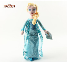 Disney Toys 50cm Frozen Princess Elsa Plush Anna Plush Doll Toys Brinquedos Stuffed Dolls For Girls High Quality Kids Gift