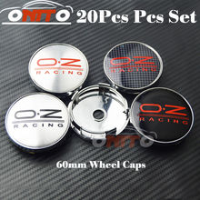 Good quality 20pcs Car Wheel Hub Emblem Cover Auto Wheel Center Logo Cap O.Z Badge(China)