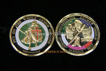 Unique Colorized - Put on the Whole Armor of God Challenge Coin, Free shipping