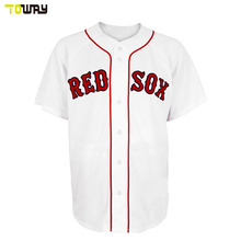 custom blank pattern white baseball jersey(China)