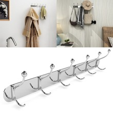 Homdox Oval Hooks Stainless Steel Multi Function Kitchen Hook Coat and Hat Rack Silver Hooks(China)