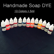 13Colors 5ml*13 Handmade Soap DYE Pigments Colorant Toolkit Materials Hand Made Soap Base Colour Liquid Pigment