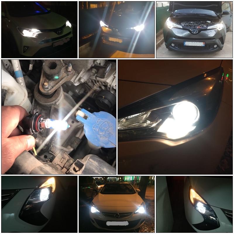 2//4PCS HIR2 12V 55W 9012 Light Bulbs Lamp Blue-white Halogen Headlight Headlamp