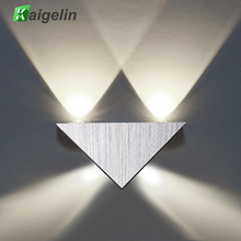 Kaigelin 4x1W LED Triangular Wall Lamp 85-265V Wall Light Comfortable Brightness Home Living Room Bedroom Deco Up Down Lighting