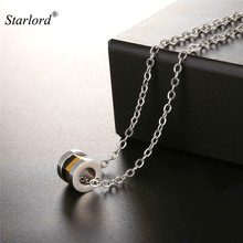 Starlord Multi-layer Nuts Pendant Necklace Unique/Special Design Stainless Steel Circle Pendant Jewelry For Men Gift 2017 GP2537(China)