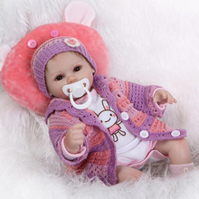 Buy New silicone reborn dolls sale 16inches 42CM size newborn babies bonecas lifelike baby alive toys girls
