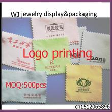 Custom Logo Printed of  Jewelry Polishing Cloth Cleaning for Platinum Gold and Sterling Silver New 8 x 8cm  Anti-Tarnish Cleaner
