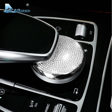 Airspeed Mercedes Benz C Class W205 GLC Class E Class W213 Multimedia Knob Cover Adjustment Control Knob Cover Car Styling