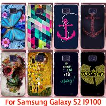 Soft Phone Cases For Samsung Galaxy SII I9100 S2 GT-I9100 Cases Skull Stripes Hard Back Cover Skin Shell Housing Sheath Bag Hood